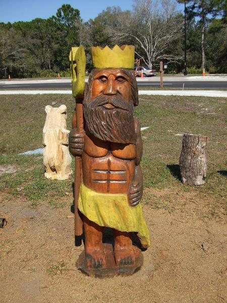 Chainsaw Carving , King Neptune
