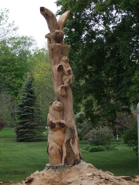 Chainsaw carving services stumps commissions fairs