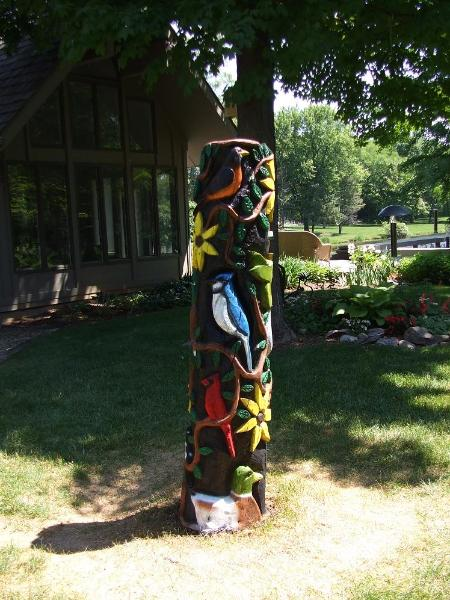 Bird Totem pole Okemos Michigan